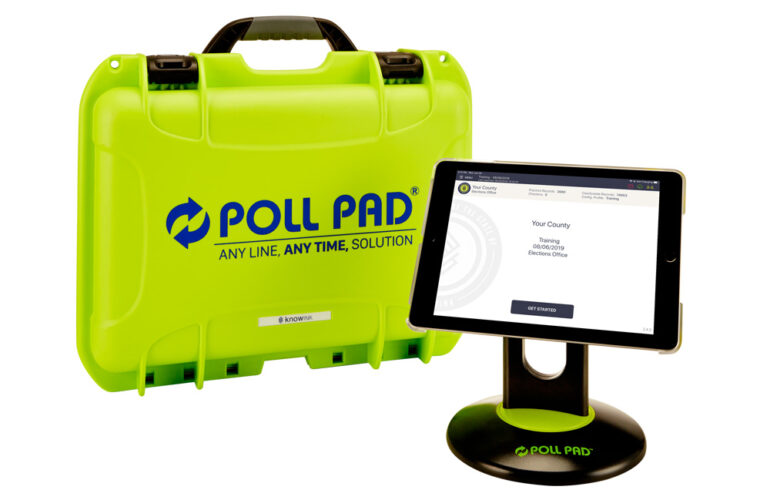 knowink products - poll pad and case